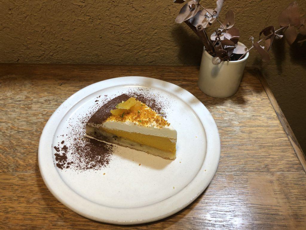 【cafe marble】築100年の町屋で食べる!オレンジピールとかぼちゃのクリームタルト¥700(税込)