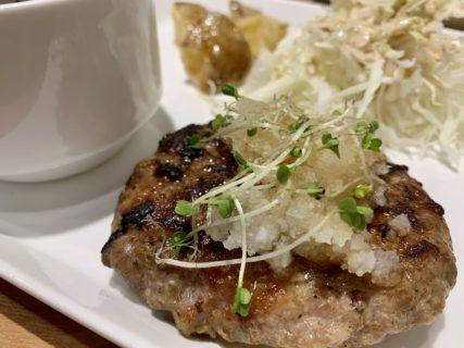 【らくえん cafe & dining】ジューシーな肉厚の自家製ハンバーグ ¥1,180(税込)
