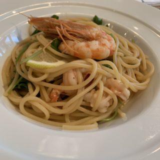 【SEKAIYA】まごころたっぷりなイタリアンのお店で頂く、天使の海老とれもんの旨味だけでつくったシンプルなスパゲッティ ¥1,000(税込)