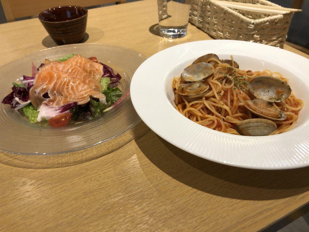 【魚とお野菜のイタリアンアルバータ】パスタで味わう海の幸!ボンゴレ・ロッソ ¥1,080(税抜)