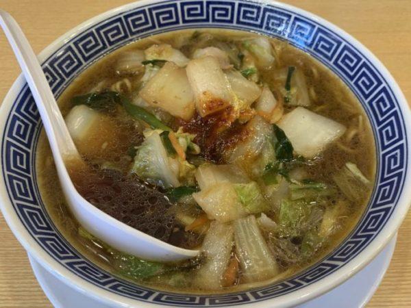 【タンメンと餃子KIBARU】白菜たっぷり!心も体も温まるタンメン! ¥650(税別)