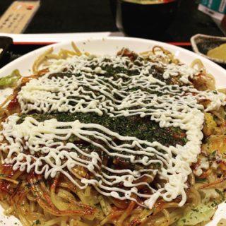 【叶夢】本場の味を楽しむならここで! 広島焼き定食 ¥850(税込)