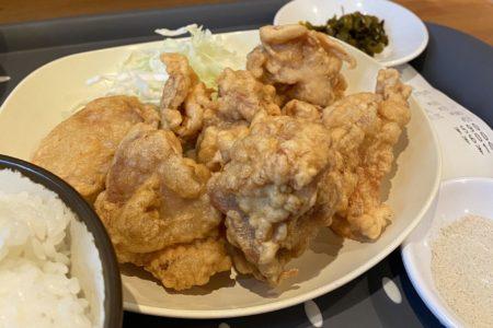 【ももからこーたろー】味良しボリューム良しコスパ良し!とり天定食 ¥520(税込)