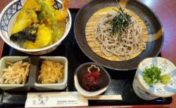 【さかえ庵】ボリュームたっぷりランチにおススメ どんぶりそば定食 ¥1,130(税込)