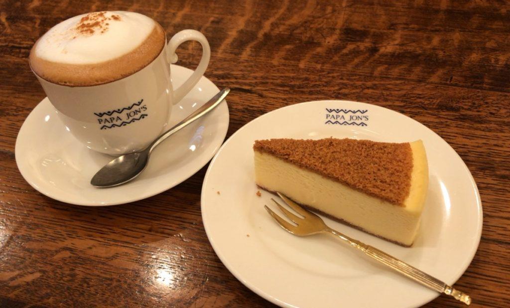 【PAPA JON'S】濃厚でクリーミー!!ニューヨークチーズケーキ ¥550(税抜)