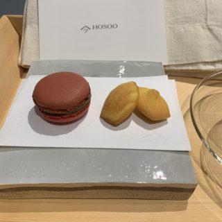 【HOSOO LOUNGE】和洋折衷スイーツが楽しめる!PAIRING SET(マカロンと紅茶のセット) ¥1,430(税込)