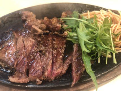 【百練】大衆居酒屋の、コスパ抜群ステーキ定食🍽 ¥900(税抜)